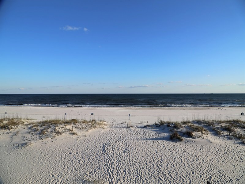 Impresionante vista de la playa / Golfo desde la cubierta