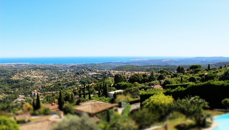 Panorama from the villa.