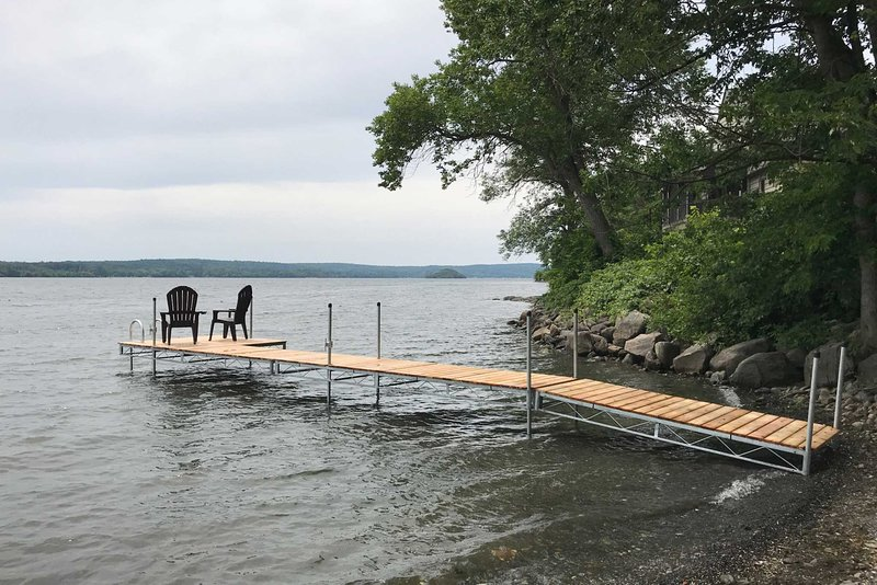 Everyone will love fishing and catching some rays by the lake.