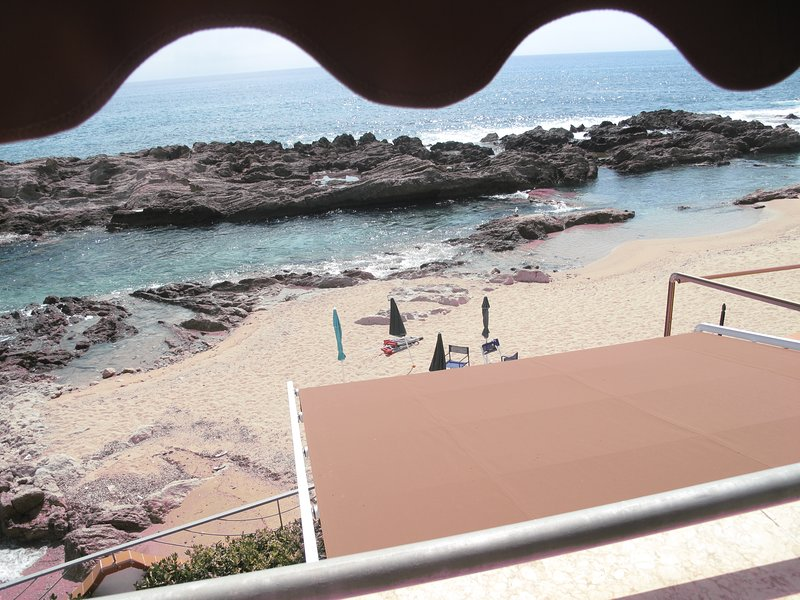 Front view from the BALCONY of the first Double Room