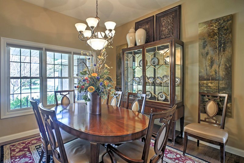 Share meals together in the elegant formal dining room.