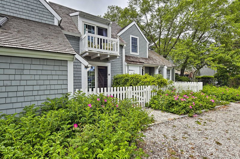 This charming Maushop Village condo promises an idyllic stay on the Cape.