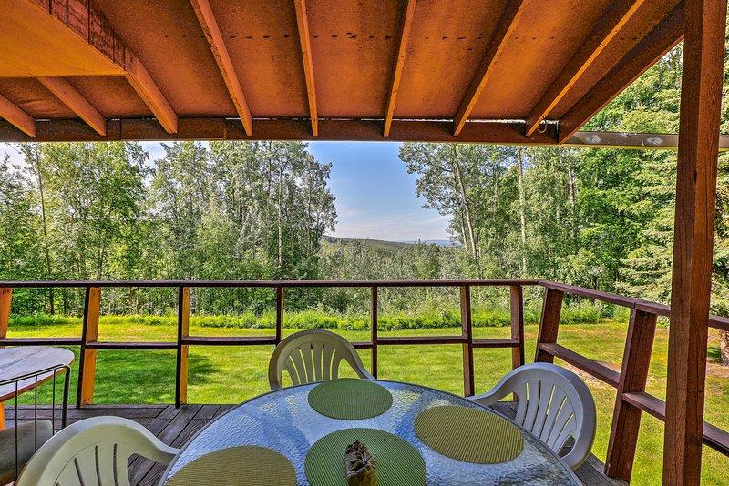 Sube las escaleras en la terraza para disfrutar de vistas inolvidables.