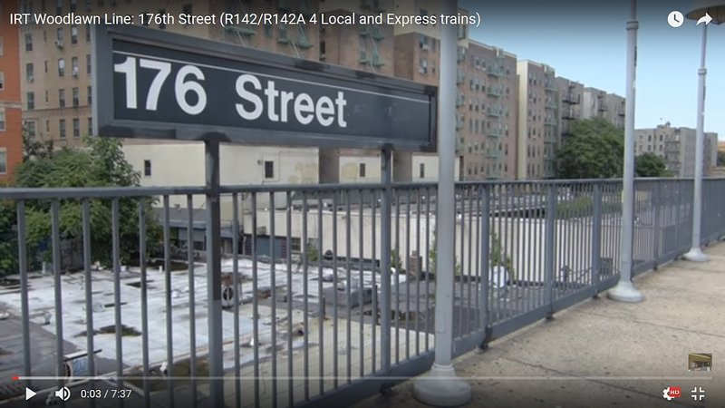 E176 station on 4 train takes you to East side of Manhattan (5 min walk to station from stay)