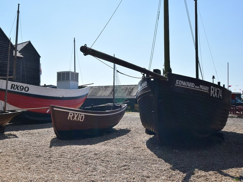 See the fishing boats in nearby Hastings old town