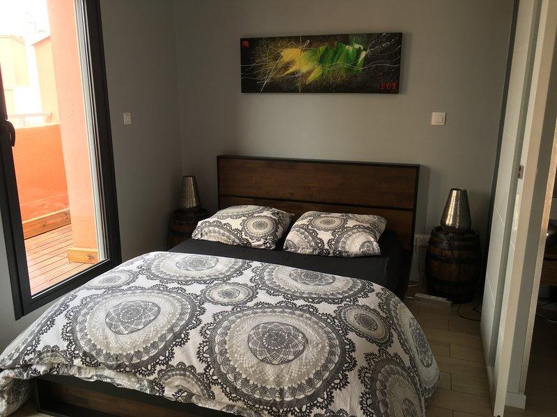 Chambre côté balcon (2 couchages)