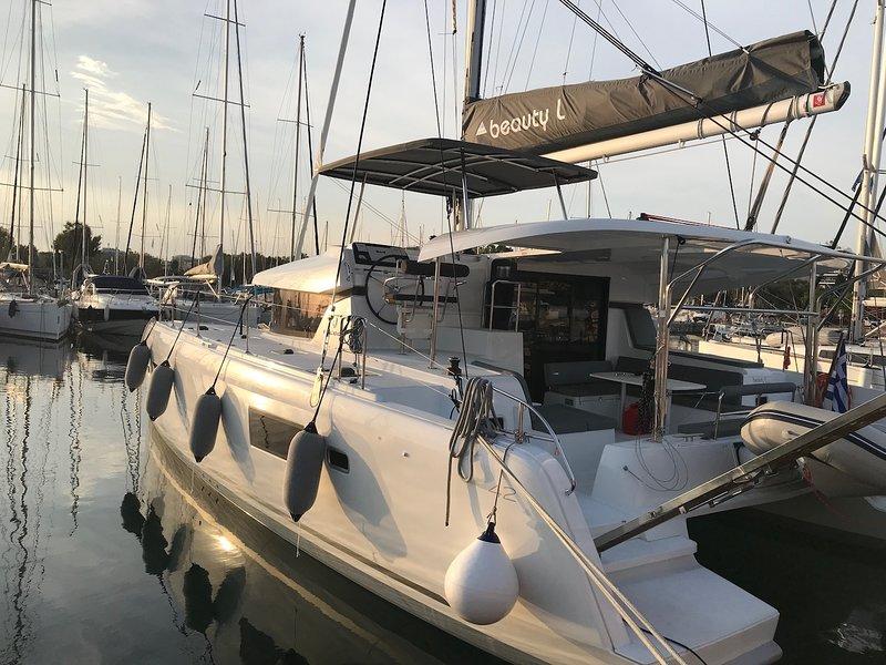 Beauty L - Lagoon 42 laying at Marina alimos