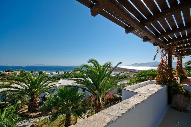 Amazing sea views from the terrace of Villa Rodia