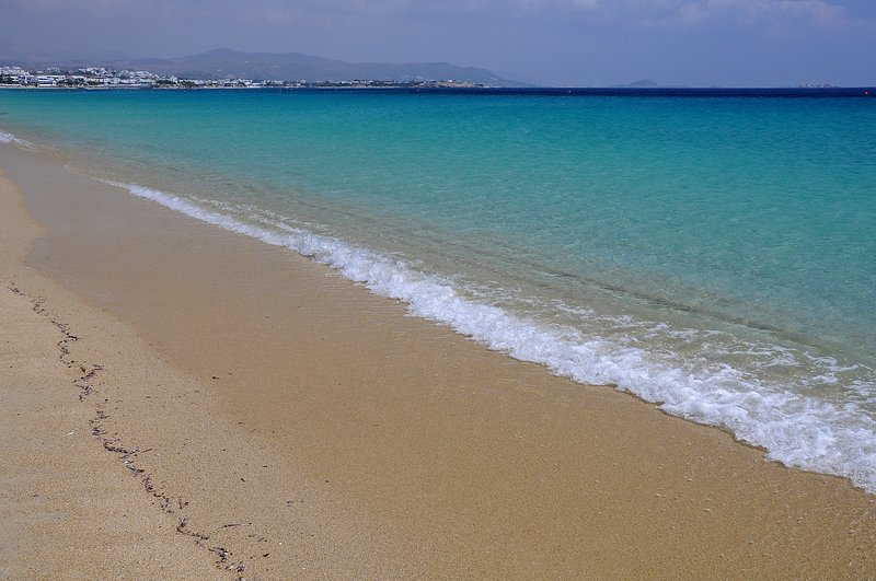 The fabulous clear sea of Agios Prokopios beach, 10 minutes walk from Villa Rodia