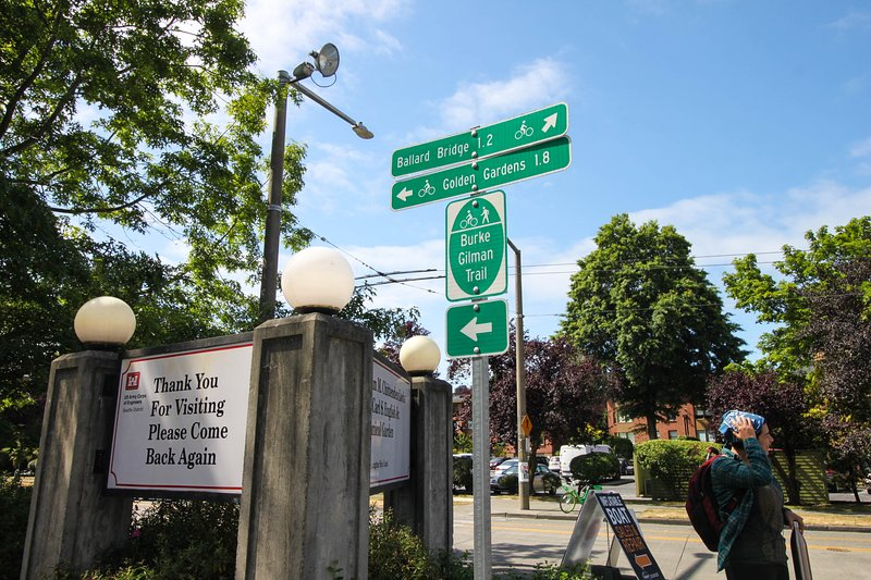The Burke-Gilman trail starts in Ballard and continues to Woodinville. Great for biking, runners.