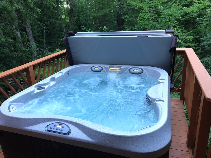 Enjoy a relaxing hot tub after a full day of skiing