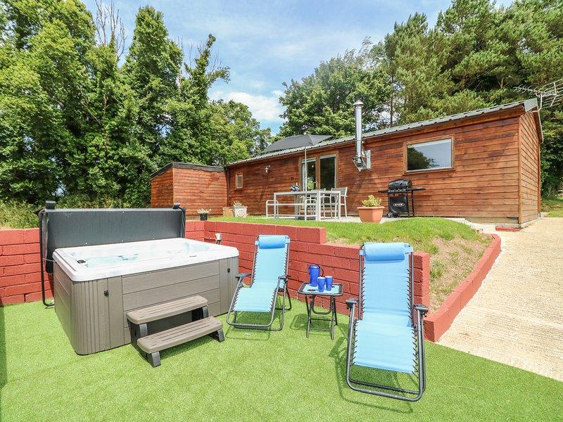 TAMAR LODGE, woodburner, hot tub, hillside, in Hatt, vacation rental in Landrake