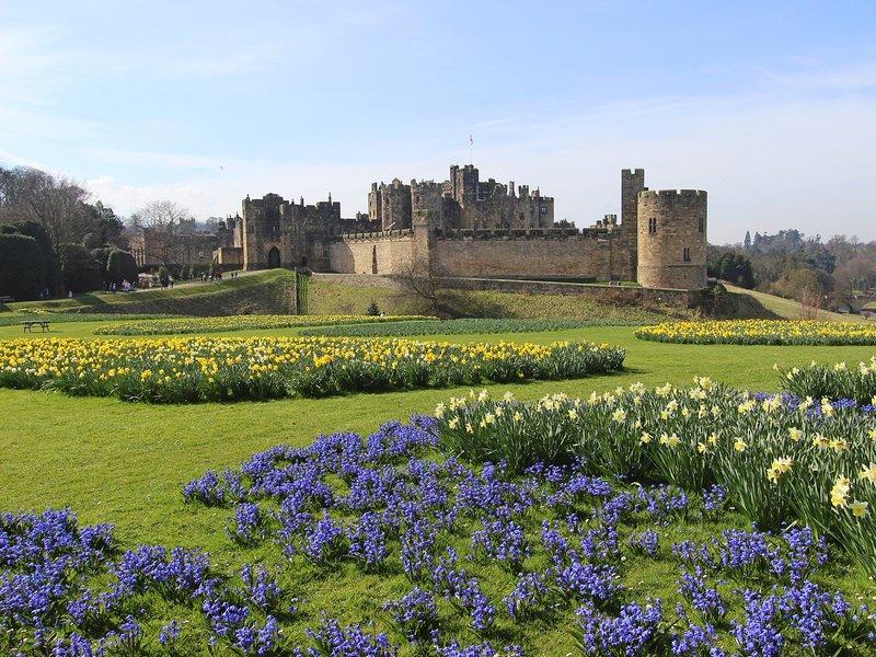 Visite o Castelo de Alnwick e os famosos jardins