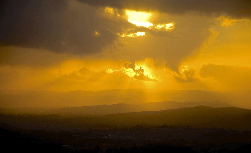 Grandes puestas de sol desde el balcón.