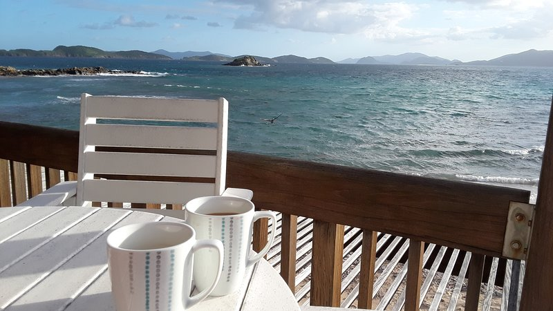 You're right on the water! Enjoy your coffee on your private deck