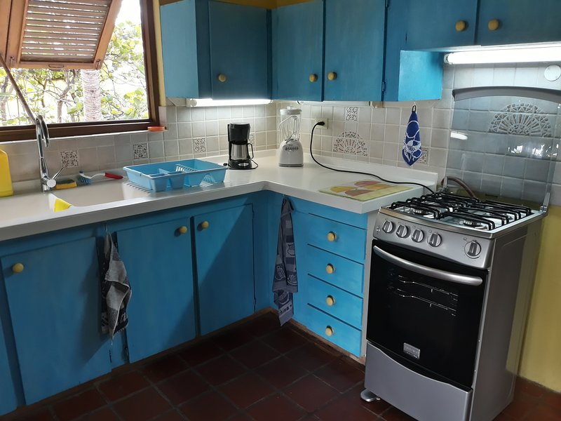 Kitchen with new stove/oven