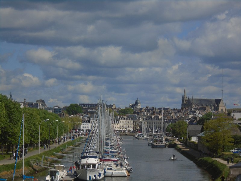 View of Vannes and its port