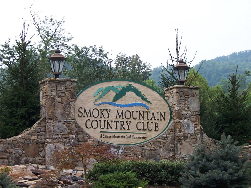 Sinal de entrada do Smoky Mountain Country Club