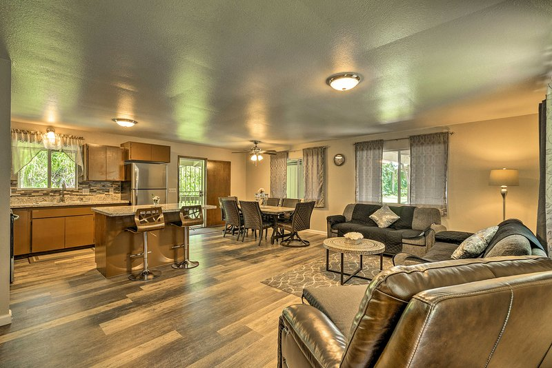 The spacious interior includes 3 bedrooms and 2.5 bathrooms.