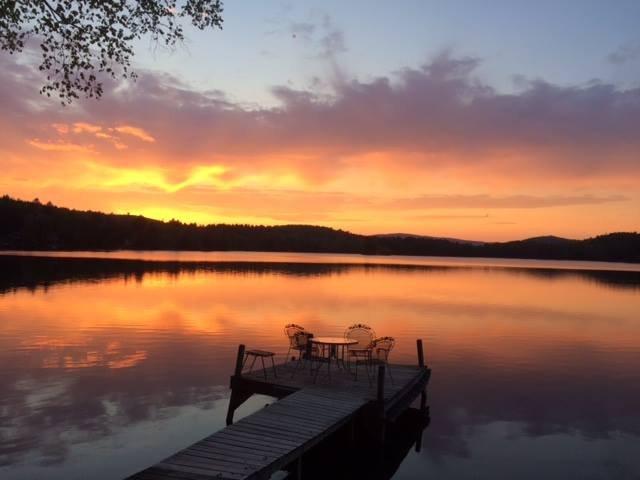 Lo stagno (e il molo) al tramonto - non delude mai