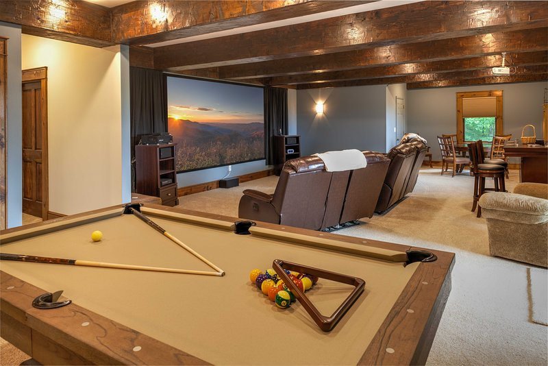 Downstairs Game Room and Theater Room