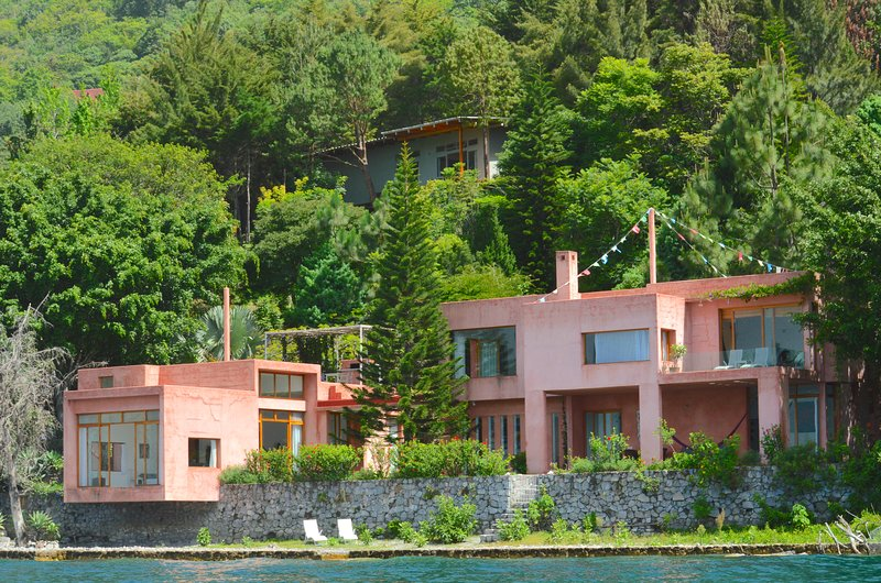 Our main pink house is located directly on the water and its called by locals 'Casa Rosada'