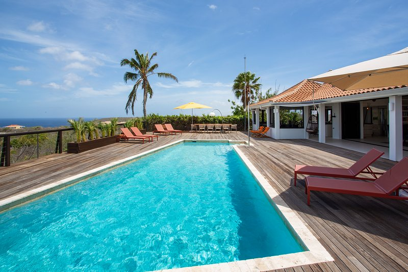Spacious pool with large terrace at Villa Gran Vista.