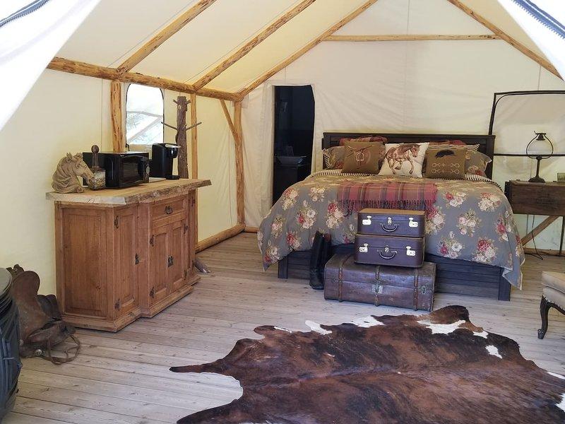 Luxuriöses Glamping-Zelt