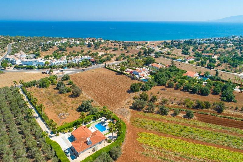 Aerial view of Villa Chrystalla