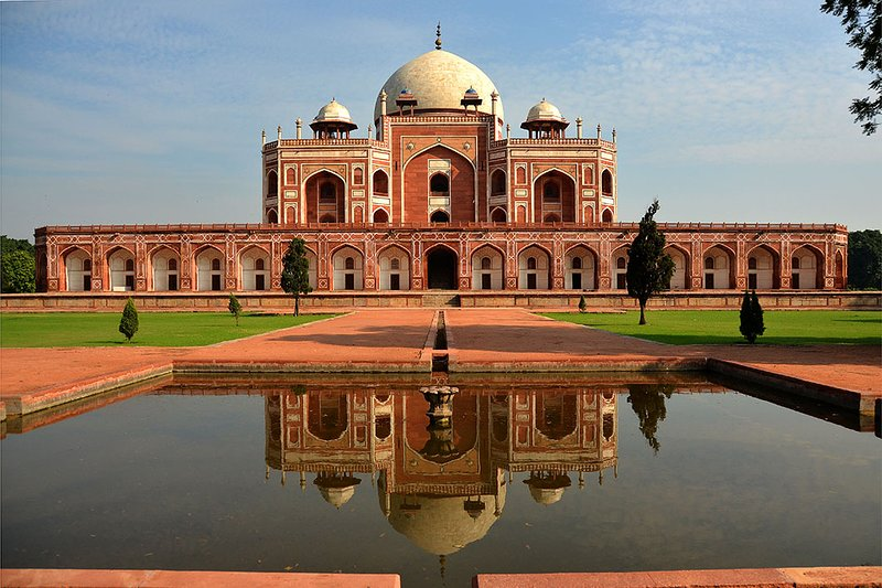 Humayun's Tomb is 800 meters from my place.