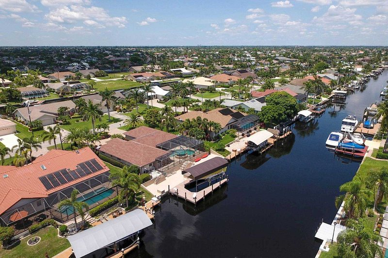 Aerial view canalside