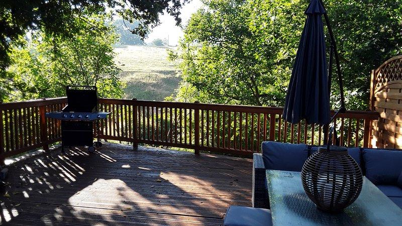 Un'altra bella mattina sulla terrazza del balcone