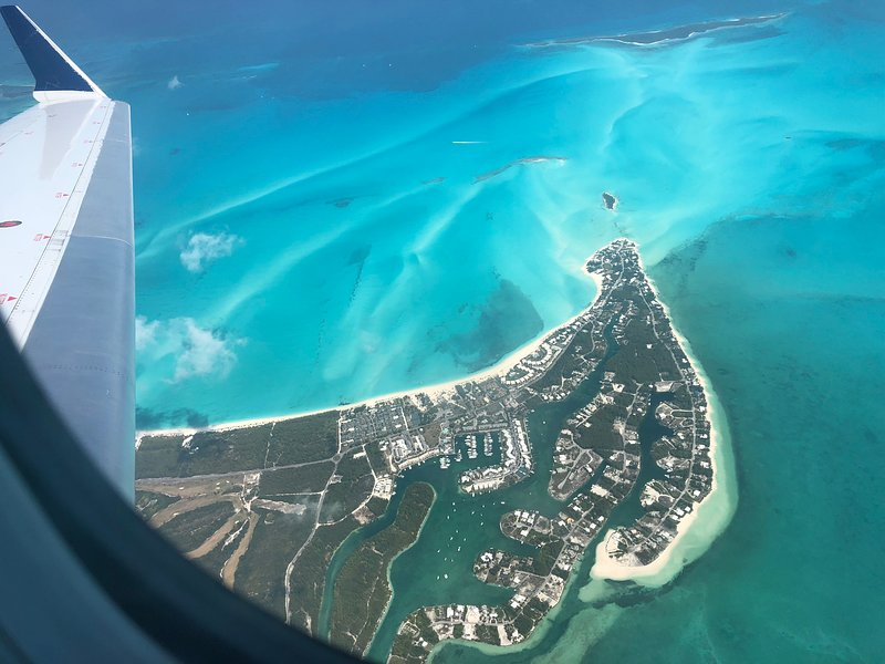 Bird view of beautiful Treasure Cay , your perfect vacation spot