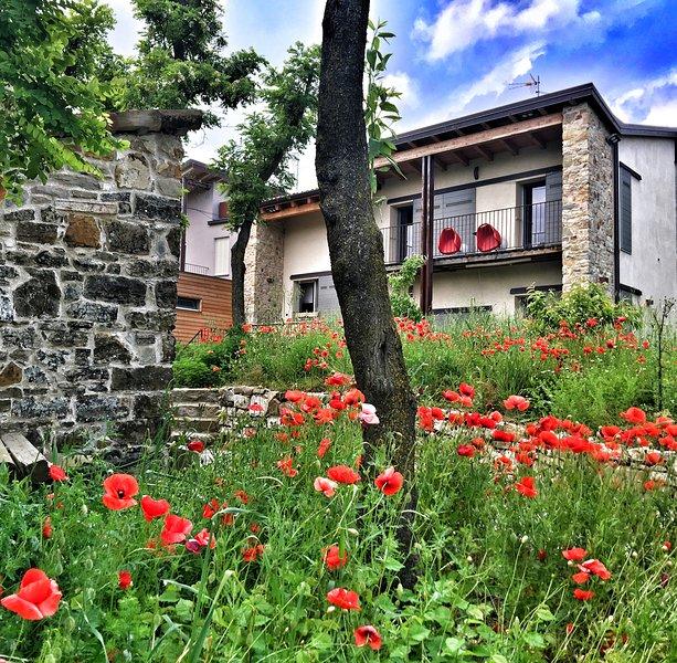 Casa indipendente 3camere 3bagni giardino recinto colli Pianello Val Tidone, holiday rental in Zavattarello