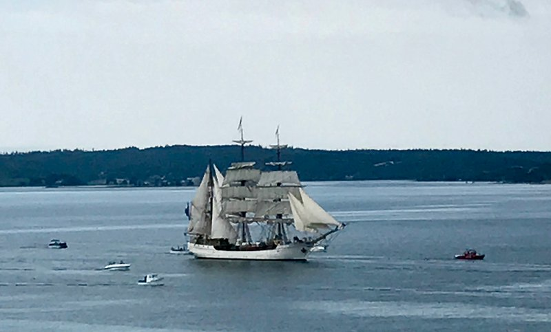 Tall ship in the harbour