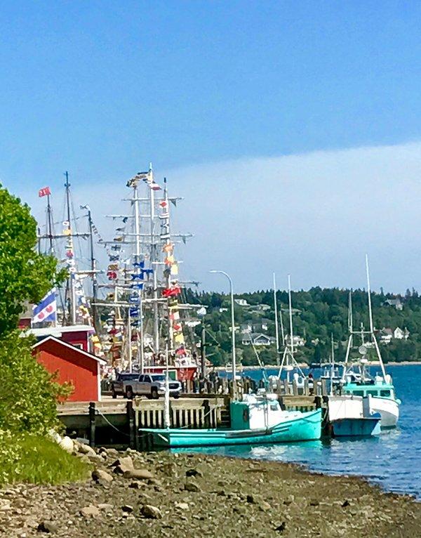The colourful wharf