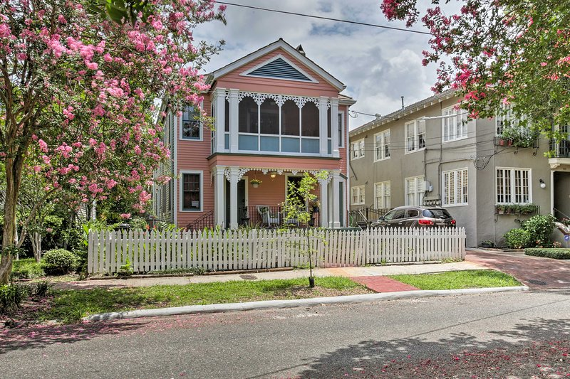 You can't beat this charming first-floor duplex in Bayou St. John!