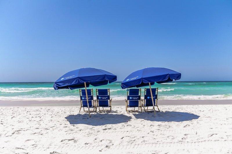 Servizio spiaggia complementare sulla spiaggia privata SOLO dal 3.2.19 al 10.31.19.