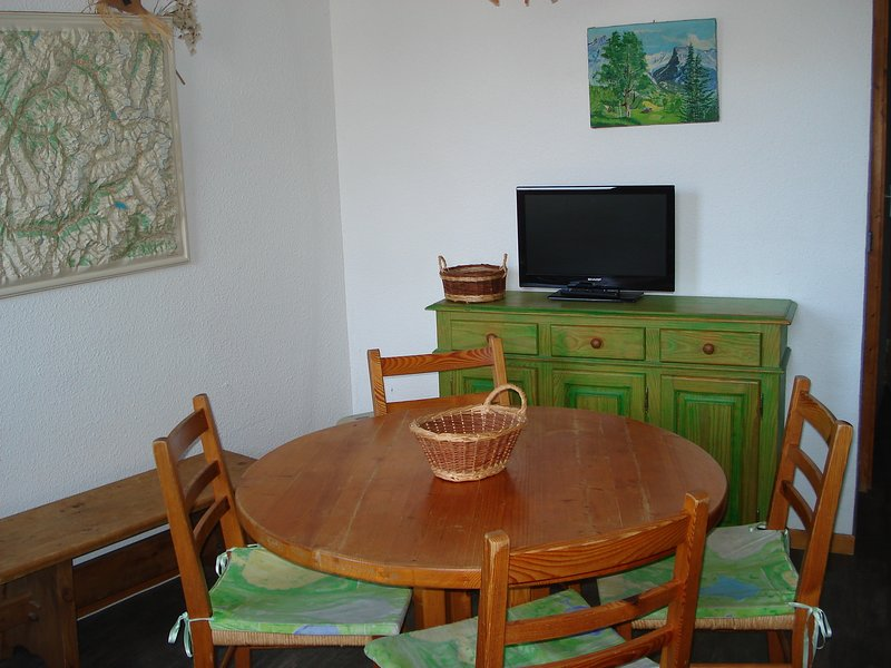 Nice studio with terrace & Wifi, holiday rental in La Cote-d'Aime