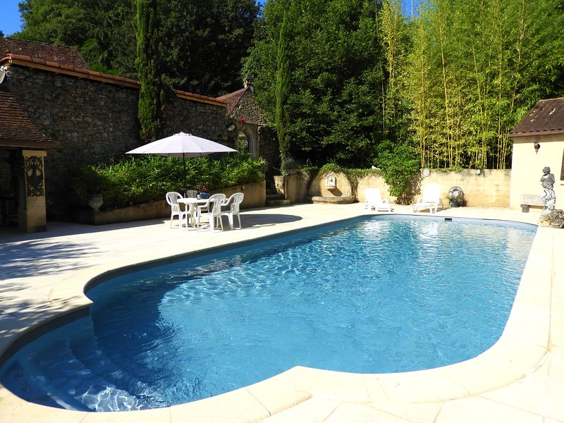 Spacious mansion with swimming-pool, location de vacances à Saint-André-d'Allas