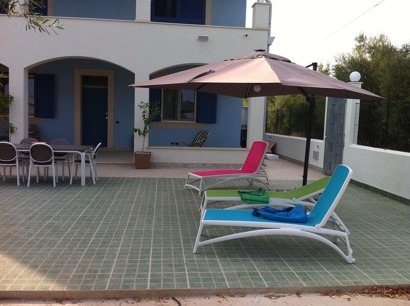 casa vacanza in villa, casa vacanza a Capo Negro