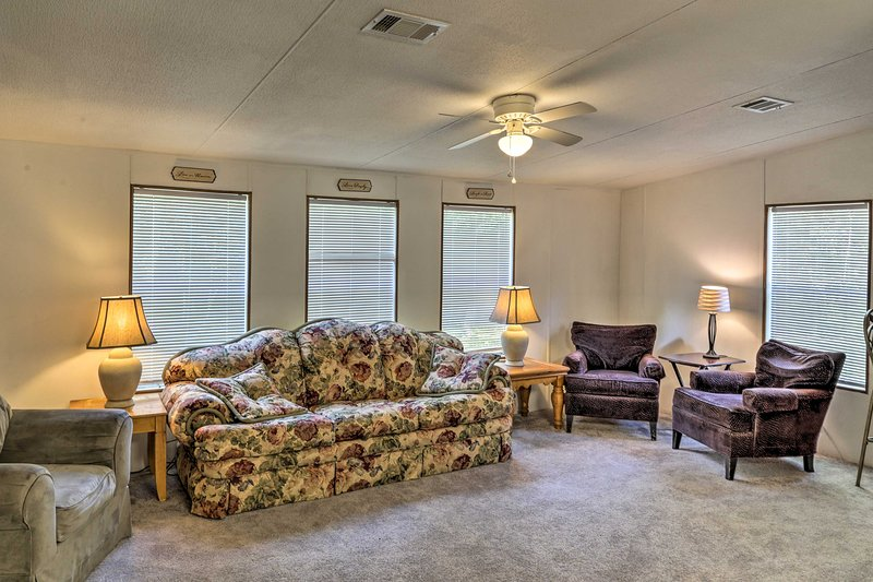 Get lost in conversation in the family room!