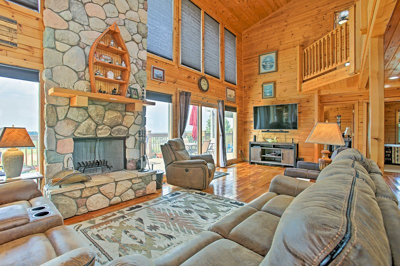 Experience the beauty of Michigan at 'House in the Clouds' vacation rental home!