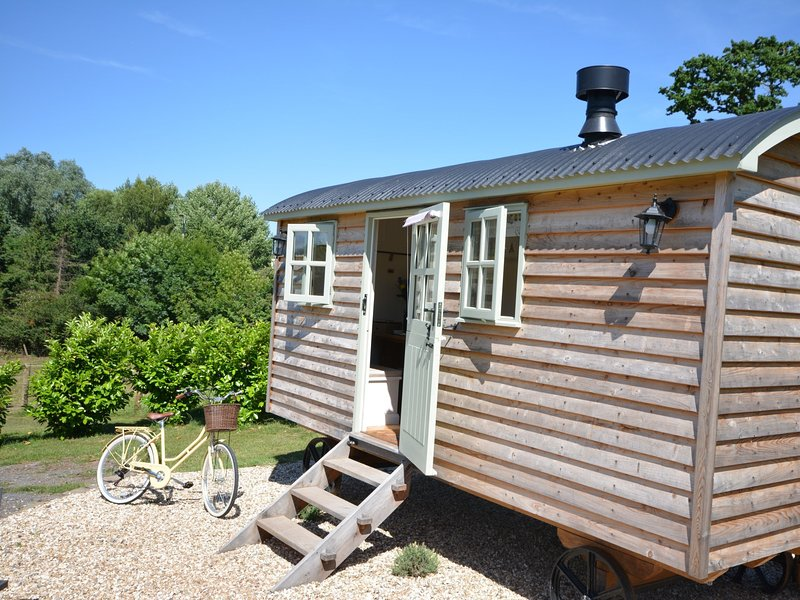 The Shepherds Hut is a romantic retreat in a beautiful setting
