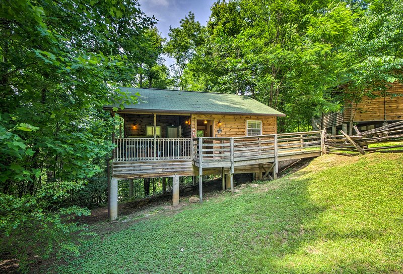 Tucked away in the Nantahala Forest, this cabin is a true mountain retreat.