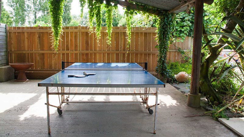 Tenis de mesa cubierto