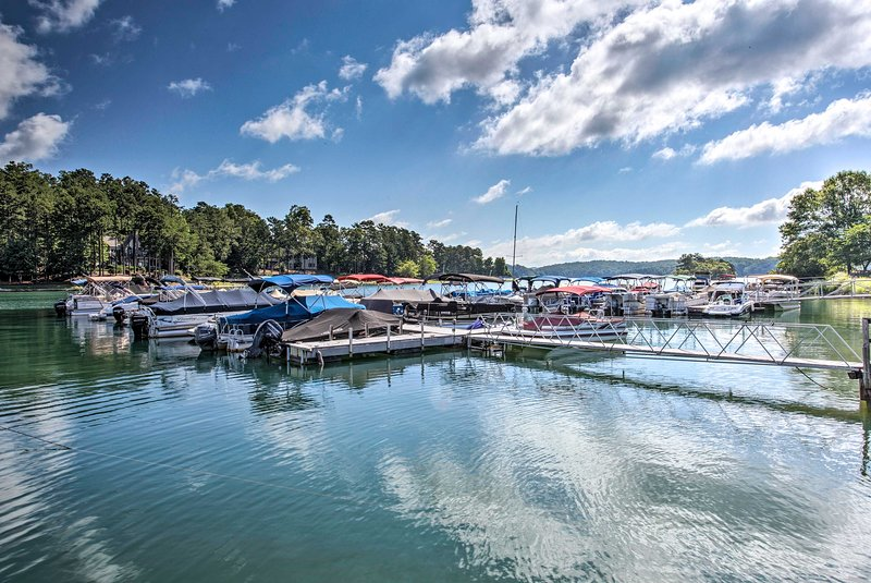 The marina is just one of the many amenities at your fingertips here!