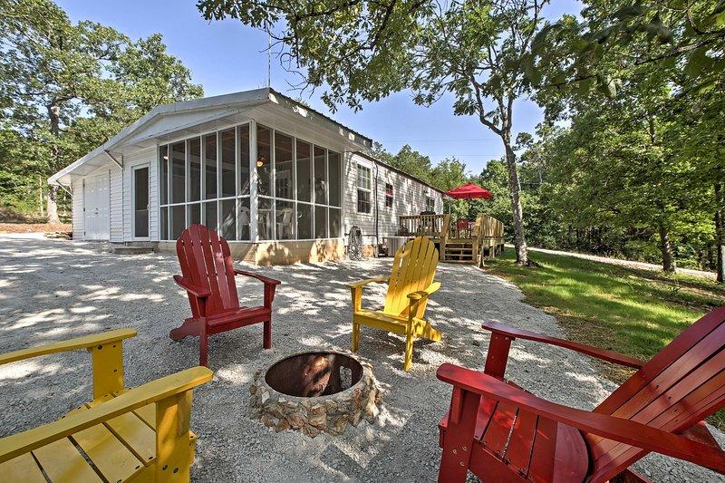 Tranquil Cedarcreek Home Steps to Bull Shoals Lake, aluguéis de temporada em Theodosia