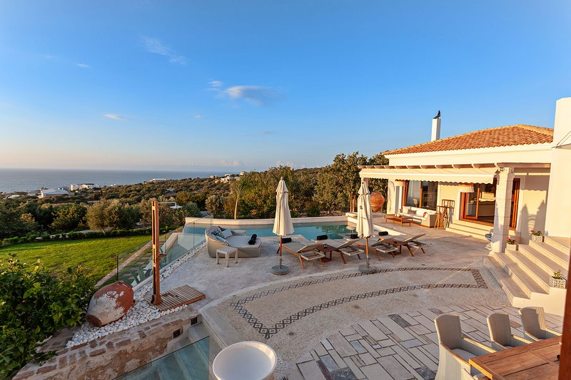 A bird's eye view of the Villa and the surrounding area!