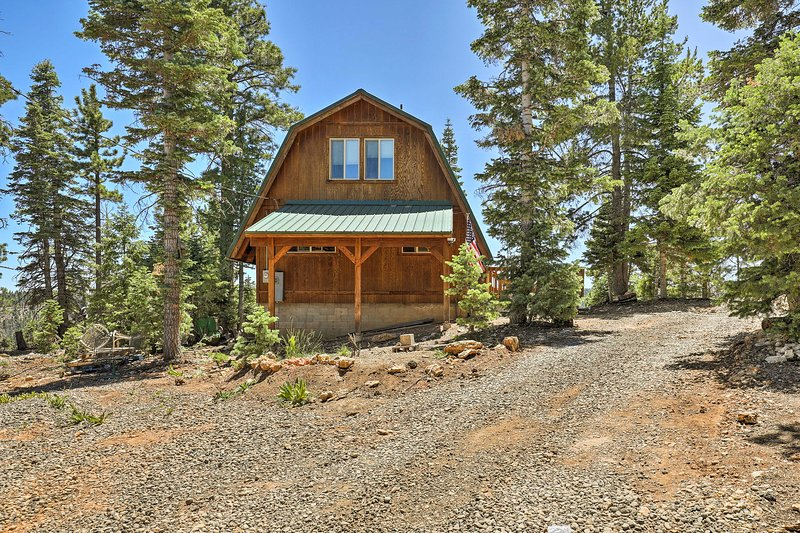 Discover mountain bliss at this cabin in Duck Creek Village.